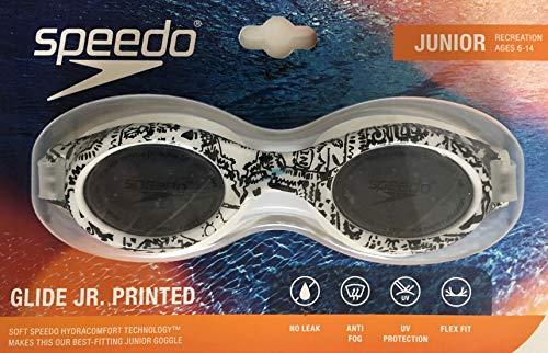 Speedo Jr Glide Print Goggle - Black/White