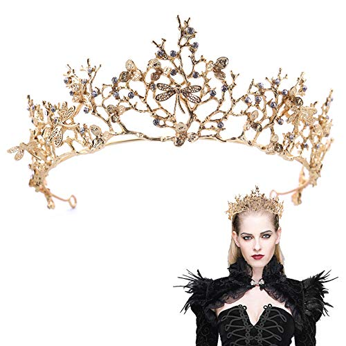 VITORIA'S GIFT Baroco Princess Crown Hair Comb with Leaf Shape for Wedding Party