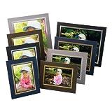 Kenro Brown Cardboard Strut Mount Photo Frame 6x4 Inch 10x15cm Presentation with Gold Border Pack of 10