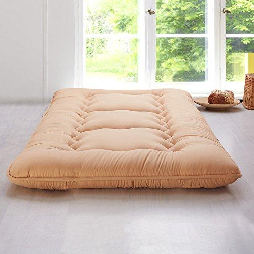 HM&DX Dicke Bodenmatratze Tatami,Gesteppter Hypoallergen Faltbar Futonmatratze Bett Schutz pad Studentenwohnheim Schlafzimmer-Kamel 100x200cm(39x79inch)