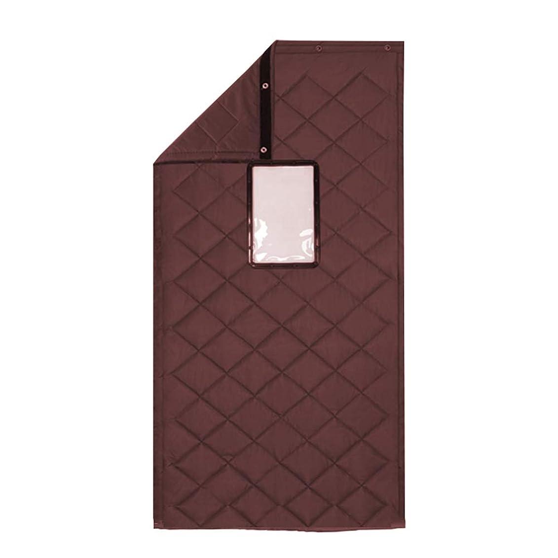 教育独裁揮発性WUFENG ドアカーテン 厚手の綿 暖かく保つ 防風 防水、 5のスタイル 複数のサイズ カスタマイズ可能 (色 : C, サイズ さいず : 110x220cm)
