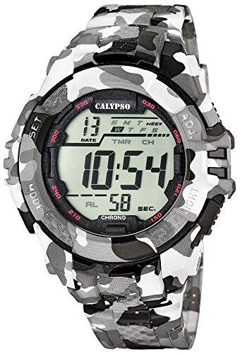 Calypso Señor Reloj de Pulsera Cuarzo Reloj Reloj de plástico con Poliuretano Banda de Alarma Cronógrafo Digital Todos los Modelos k5681, Variante: 01