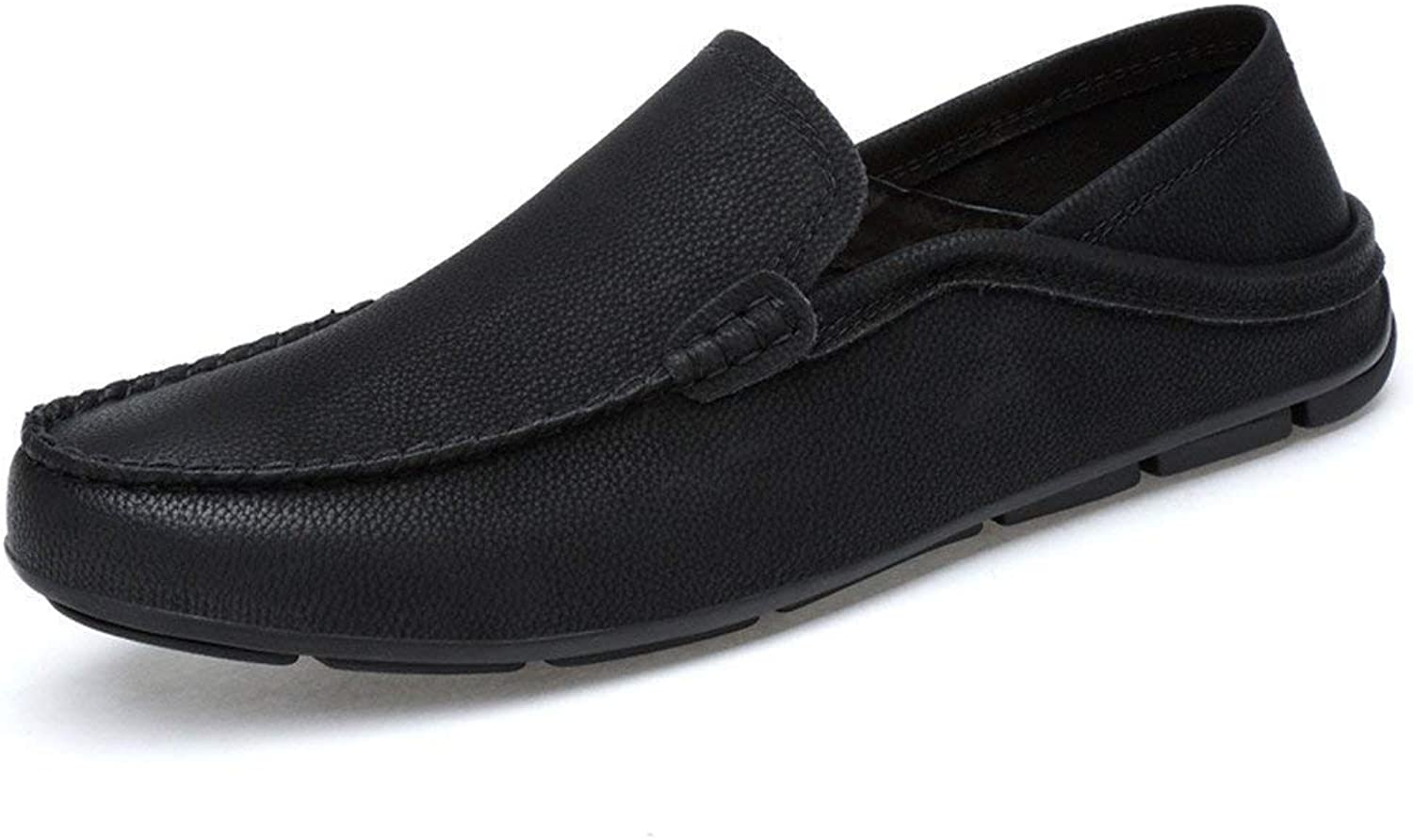 Men's Moccasins shoes, Mens Drive Loafers for Casual and Refreshing Breathable Real Leather Lined Lightweight Boot Moccasins (color  Hollow Black, Size  37 EU) ( color   As shown , Size   One size )
