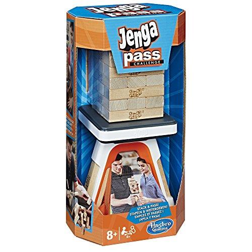 Hasbro Spiele E0585EU4 Jenga Pass Challenge, Kinderspiel