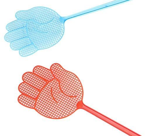 Demarkt Plastik Fliegenklatsche Fliegenschutz Mückenschutz Insektenschutz Insekt Klatschen mit Hand Design für Fliegen Mücken Insekten zufällige Farbe 2pcs