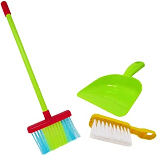 KIDSTHRILL Kids Cleaning Set for Toddlers and Kids — Toy Cleaning Set 3 Pieces — Kids Broom, Dustpan & Mini Brush — Housekeeping Set for Girls & Boys