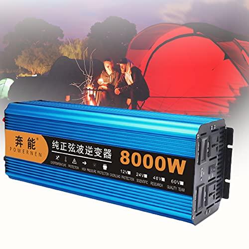 BIWAHumor RV Car Power Inverter Onda Sinusoidale Pura, Convertitore Ca da 24 V a 230 V Prese Ca, Porta USB, Inverter per Auto con Porta Ca Ad Alta Corrente con Un USB E Due Ventole di Raffreddamento
