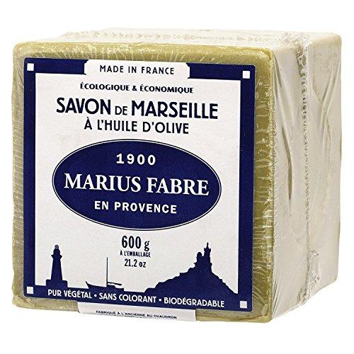 Marius Fabre - SAVON DE MARSEILLE à l'Huile d'Olive - Cube 600 Gr