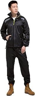 ZEMIN ポンチョ レインウェア レインコート ポンチョ ウインドブレーカー 防水 カバー 快適 品質 ポリエステル、 5色 7サイズあり (色 : 黒, サイズ さいず : XXXXL)