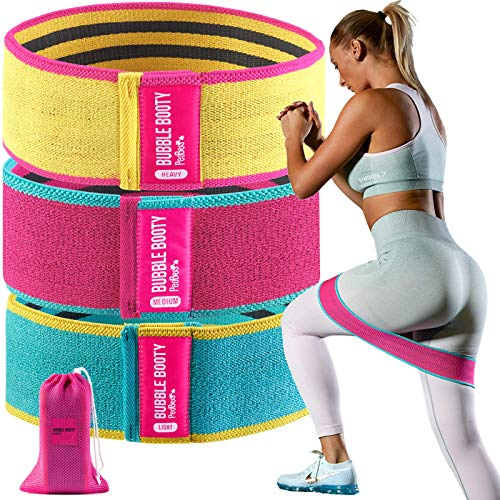 Booty Bands for Women Fabric Resistance Bands for Women Butt and Legs Workout Bands Leg Bands for Working Out Squat Bands Exercise Bands Glute Bands Non Slip Squat Bands (Multicolor)