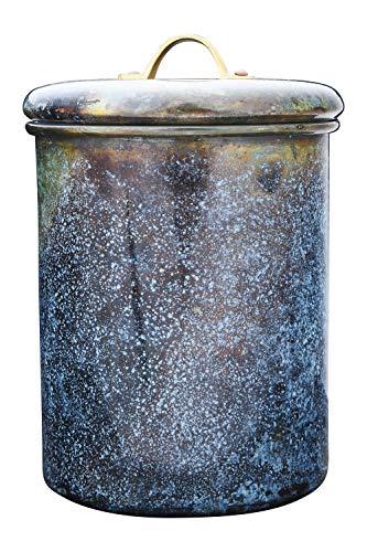 Bloomingville Vorratsdose aus Edelstahl mit oxidierter Oberfläche, 4,5 l, mehrfarbig