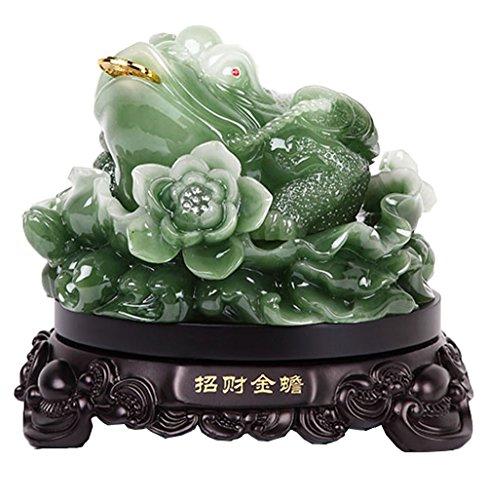 Feng Shui Dinero Lucky Fortune Riqueza Rana china Sapo Moneda Decoración de oficina en casa Adornos de mesa Buenos regalos afortunados