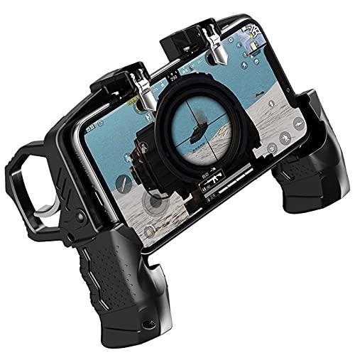 Mando ZWRY Joystick del controlador de metal para el gamepad del gatillo móvil para el juego de disparos del teléfono negro