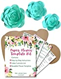 Paper Flower Template Kit - Make Your Own Paper Flowers - Paper Flowers Decoration - Make Unlimited Flowers - DIY - Rose