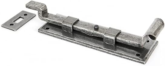 From the Anvil 6-inch Handmade Fishtail Cranked Door Bolt - Pewter