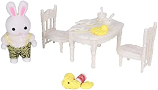 Dollhouse Furniture, Children Toy, Doll Toy, Cute for Girls Kids(6621-3 Small Dining Table)
