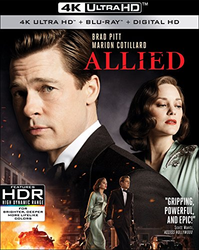 Allied 4K UHD + Blu-ray + Digital Only $9.96 (Retail $22.28)