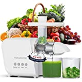 MegaWise Slow Masticating Juicer, 9 Segment Spiral 2 Speed Modes Juicer Machines for Vegetables and...