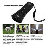 Répulsif et entraîneur tenus dans la main de chien, dispositif anti-aboiement ultrasonique à double canal 3 dans 1 répulsif pour chien / outil de formation/Arrêtez d'aboyer avec la lampe-torche de LED #1