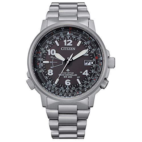 Citizen Pilot CB0240-88E Reloj Eco Drive Acero Radiocontrolado para Hombre Esfera Negra