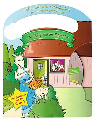 Mein allerliebstes Märchenbuch Der Wolf und die 7 Geißlein mit Tragegriff und Audio CD