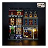 CDXZRZYH Kit de luz LED para Lego 10218 Creator Experto Pet Shop USB y Alimentado por la batería (LED Incluido Solamente, NINGÚN Lego Kit)