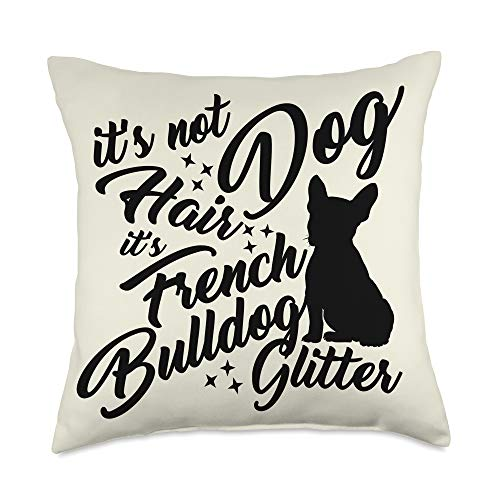 French Bulldog Owner Gifts Dog French Bulldog Glitter Pattern Gift - Home Decor Throw Pillow, 18x18, Multicolor
