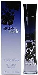 Armani GIORGIO Code Eau DE Parfum POUR Femme 75ML VAPORIZADOR Unisex Adulto Negro Estándar