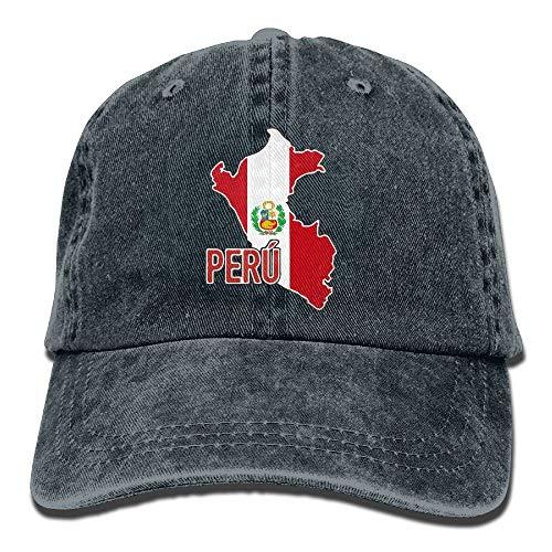 Generic Peruanische Stolz-Karte der Baseballmütze-justierbaren einfachen Kappe der Peru-Frauen