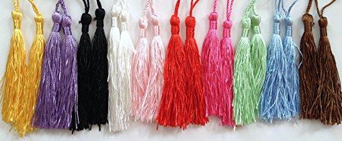 10 pcs 3 1/2' Tassel Fringe Drapery Trimmings Tassels Decoration Pendant Tassels (All Ten Colors (1 tassel per color))