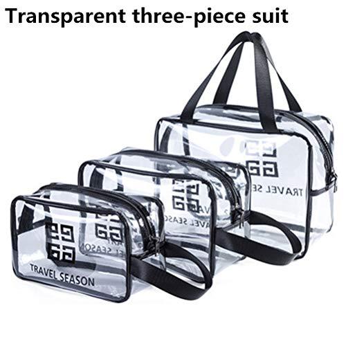 6P6 Net Red Cosmetic Bag Ins Wind Super Portable Femme Voyage Feu Grande Capacité De Lavage Transparent Sac Étanche Boîte De Rangement Sac,C1+c2+c3