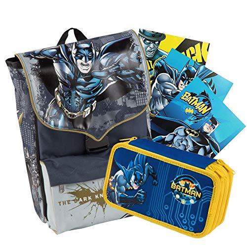 SchoolPack BATMAN - Rucksack + Etui + 3 Maxi-Hefte gratis