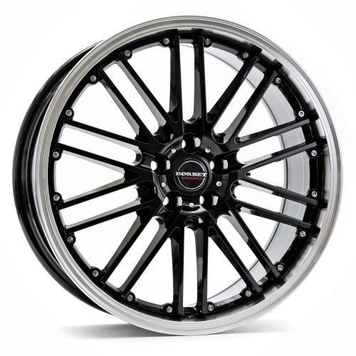 Borbet CW 2 black rim polished 8x17 ET35 5.00x112 Hub Bore 72.50 mm - Alu felgen