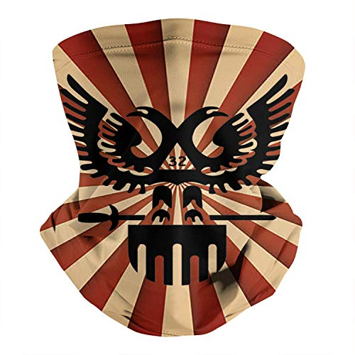 TYYIN 32nd-Degree-Double-Headed-Eagle-Scottish-Rite Men Women Summer Face Scarf Sun Neckerchief