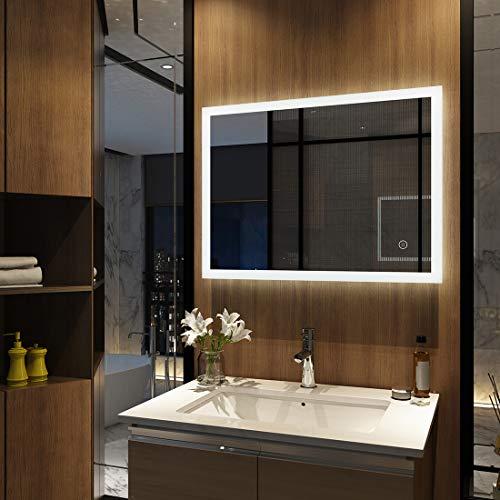 EMKE - Specchio da Bagno con Illuminazione a LED, Modello 3