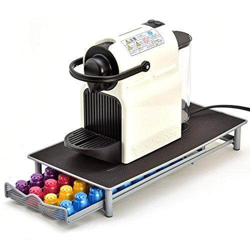 【Caps Racks】 ネスレ ネスプレッソ nespresso 専用 カプセルホルダー 収納 ラック 引き出し式 40カプセル用 シルバー