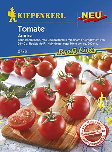 "Kiepenkerl Saatgut, Tomaten\""Aranca\"", Inhalt 5 Korn, Cocktailtomate/Kirschtomate, Fruchtgewicht ca. 35-40 gr, Resistent gegen Fusarium, Samtflecken und Tomatenmosaikvirus"