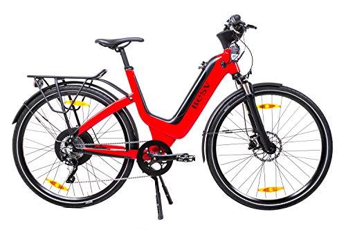28 Zoll BESV JS1 Damen Elektro Fahrrad E Bike Pedelec Shimano XT 10 Gang Magura rot B-Ware