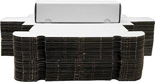 BCW 500 Count (Bundle of 50) Corrugated Cardboard Storage Box - Baseball, Football, Basketball, Hockey, Nascar, Sportscards, Gaming & Trading Cards Collecting Supplies