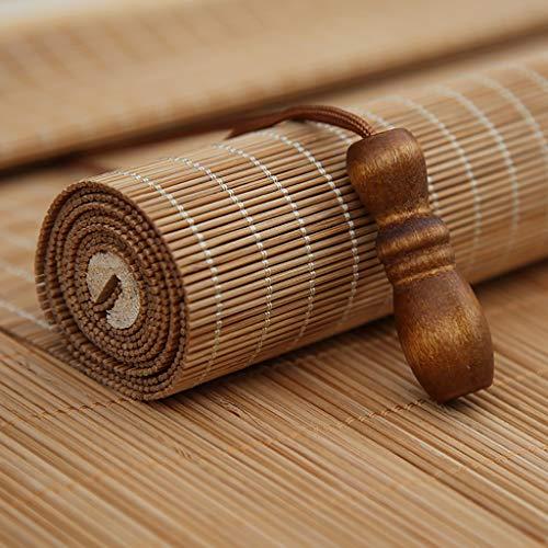 Bambus-Jalousien,Bambus-Rollo,Rollo aus Bambus,Balkon und büro Sonnenschirm ziehen Vorhang (W1.8m × L2.3m) Bambus