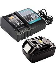 18V 5.0Ah BL1850B Li-Ion accu met DC18RC oplader 3A met LED vervanging voor Makita BL1830 BL1840 BL1860 18 Volt LXT gereedschapsaccu