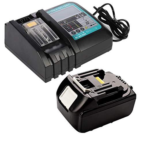 Batería de ion de litio BL1850B de 18 V y 5 Ah, con cargador DC18RC, 3 A, con LED de repuesto para Makita BL1830, BL1840, BL1860, 18 V