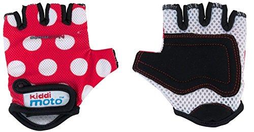 KIDDIMOTO GLV012M - Handschuhe mit weißen Punkten, Größe M, rot