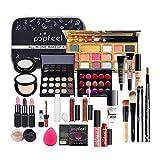 Yatter Set De Maquillaje, Professional Carry All Cosplay Makeup Train Case Set De Maquillaje, con Paleta De Sombras De Ojos Set Kit para Artistas Mujeres Niñas Set De 30 Piezas