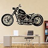 wZUN Caballero Motocicleta Pegatina de Pared para habitación Juvenil decoración del hogar jardín de Infantes habitación para niños Motocicleta Vinilo 85X45cm
