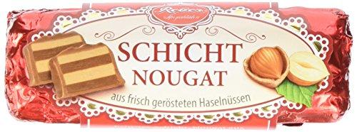 Reber Schicht-Nougat, Alpenmilch-Schokolade, Haselnuss-Nougat, Tolles Geschenk, 1 Stück