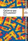 Qu'est-Ce Que Les Lumières ? - Hatier - 29/08/2007
