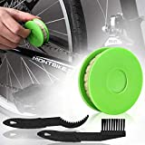 JNUYISW Rodillo de engrasador de Cadena de Bicicleta, engrasador de engrane de Cadena de Bicicleta Lubricador Limpiador de lubricante Lubricante Herramienta para el Cuidado de Bicicletas (Verde)