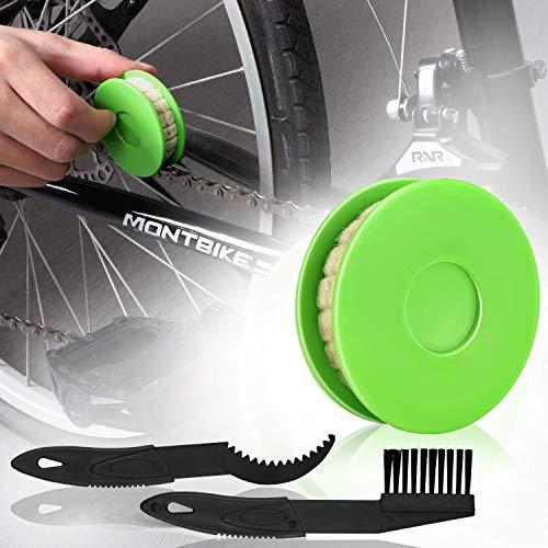 JNUYISW Bike Chain Oiler Roller Lubricator, Bike Chain Gear Oiler Lube Cleaner Lubricant Bicycle Care Tool