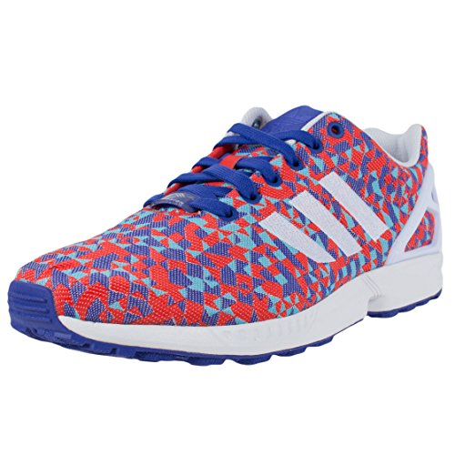 adidas Zx Flux Weave Men's Running Shoes Size US 10.5, Regular Width, Color Sky/Red